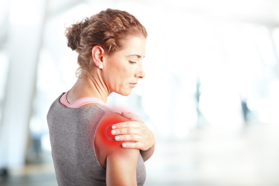 Atleta con dolor muscular