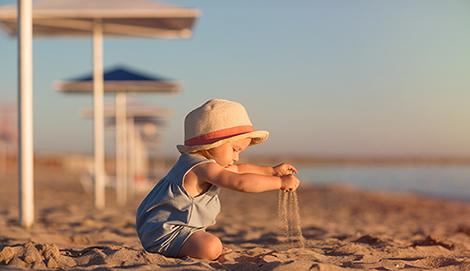 Cómo estar con tu bebé en la playa