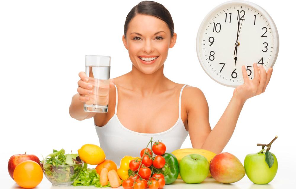 Chica con una vida saludable
