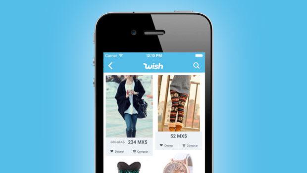 celular con app de wish - Mejores apps para comprar en línea