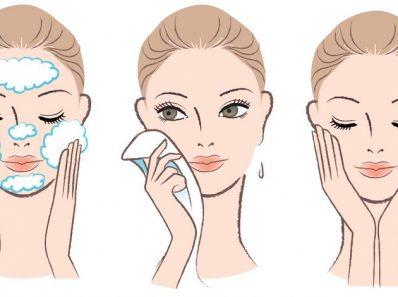 chica haciendo su rutina de limpieza 398x297 - Rutina de limpieza facial