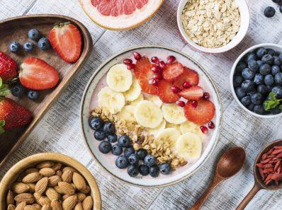 Bowl de frutas y cereales