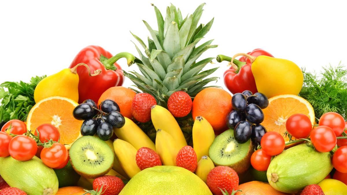 frutas y verduras frescas - Cómo desarrollar musculo magro