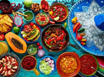 platos de comida mexicana